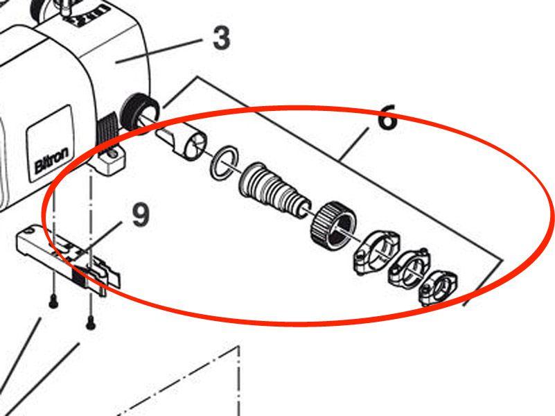 Beipack Einlauf Bitron C 36 / 55 / 72 / 110 - B36C / B55C / B72C / B110C