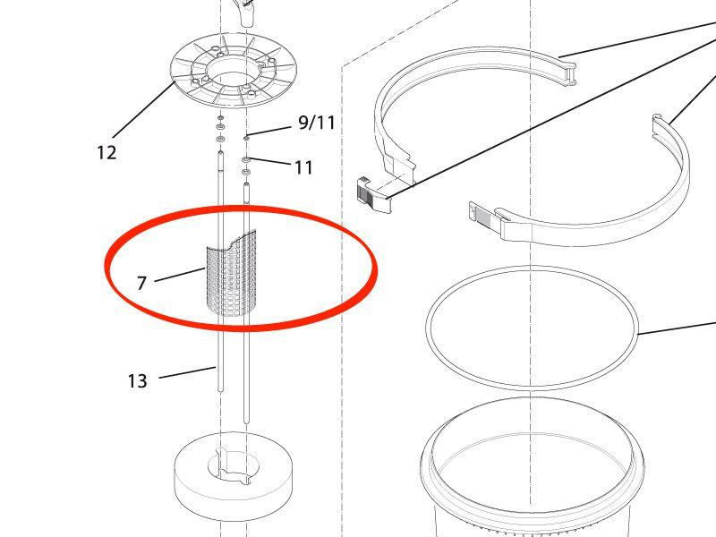 Gitterrohr FiltoClear 20000 / 30000