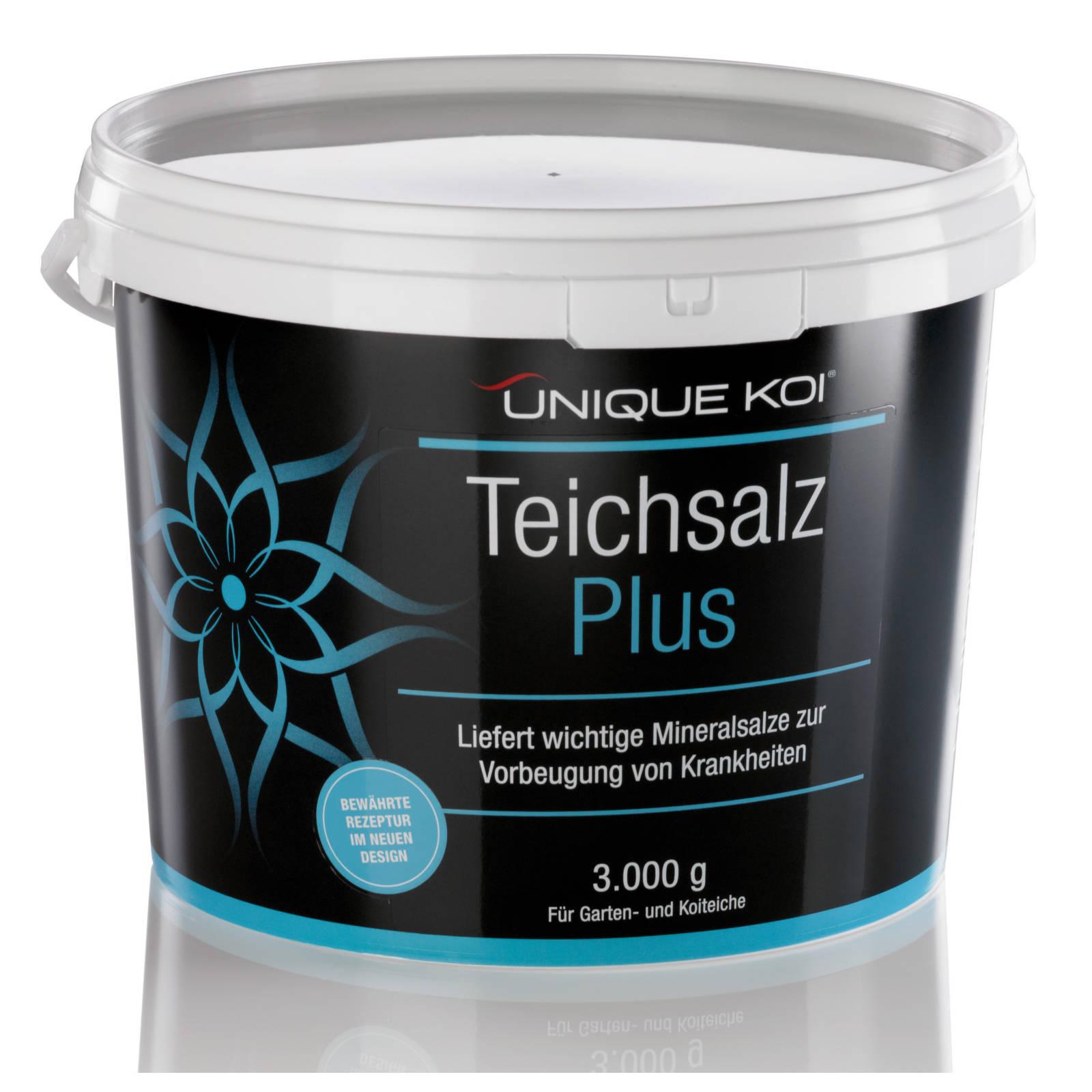 Unique Koi Teichsalz Plus Liefert wichtige Mineralsalze zur Vorbeugung von Krankheiten 3000g
