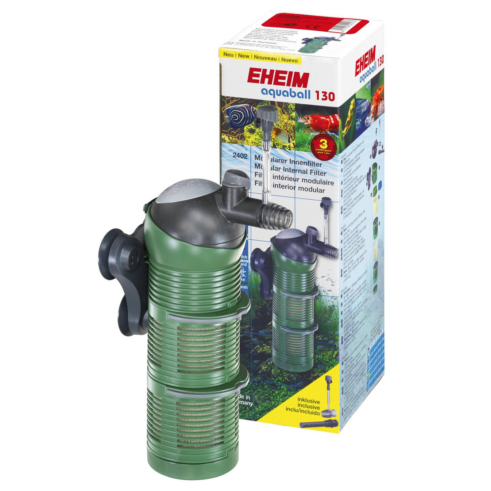 EHEIM aquaball 130 Innenfilter mit 2x Filterpatrone und Media-Box