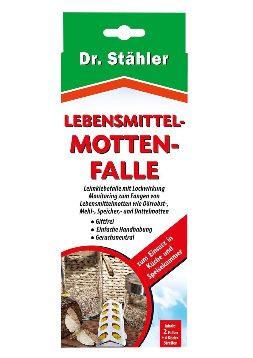Dr. Stähler Lebensmittelmottenfalle 2 Fallen + 4 Köderstreifen