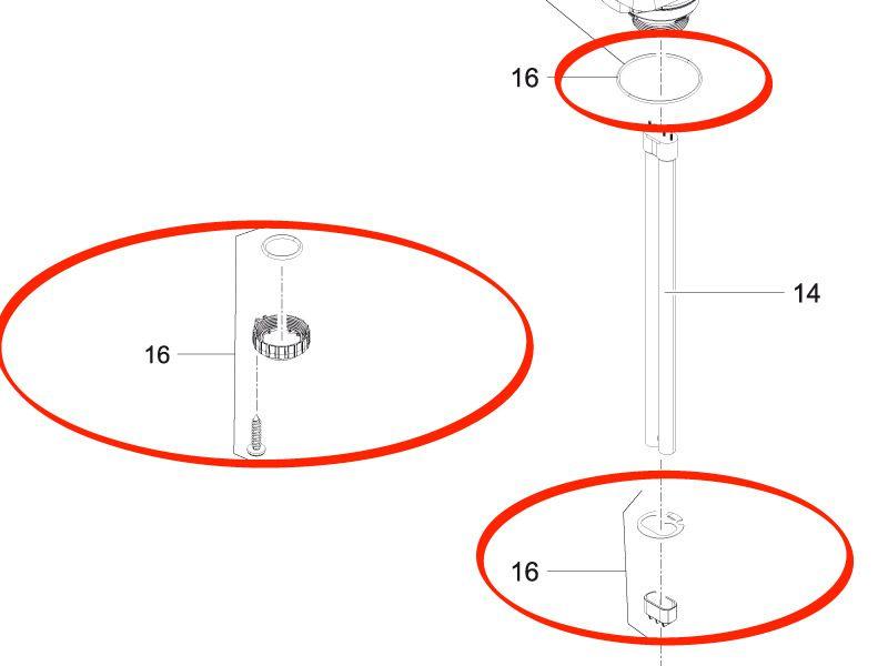 Klemmschraubenset FiltoClear 12000 / 16000 / 20000 / 30000