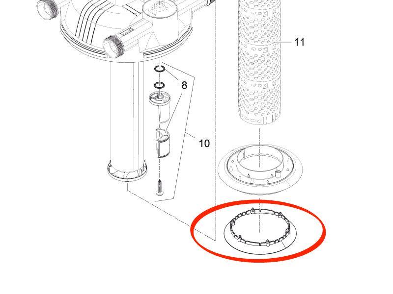 Oase Dichtlippe Behälter / Scheibe FiltoClear