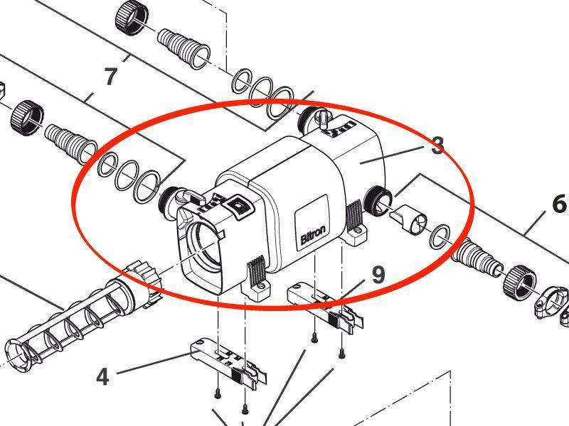 Ersatz Gehäuse Bitron C 18 / 24 - B18C / B24C