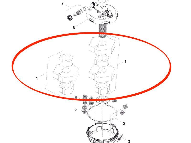 Ersatzschwamm Set BioPress Set 6000 / 8000 / 10000 / 12000