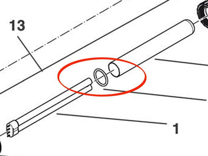 O-Ring Viton 65 x 6 SH50 A für Bitron C 72 / 110 - B72C / B110C