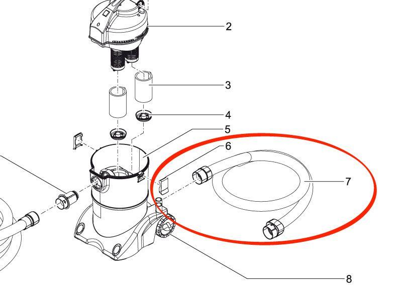 Oase Ablaufschlauch ID57 mm geklebt PondoVac 3 + 4