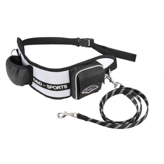 ebi D&D Sports Active Walker Joggingleine - 110 cm weiß / kleine - mittlere Hunde