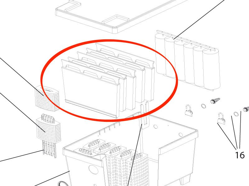Filtermatte schwarz hoch BioTec 30