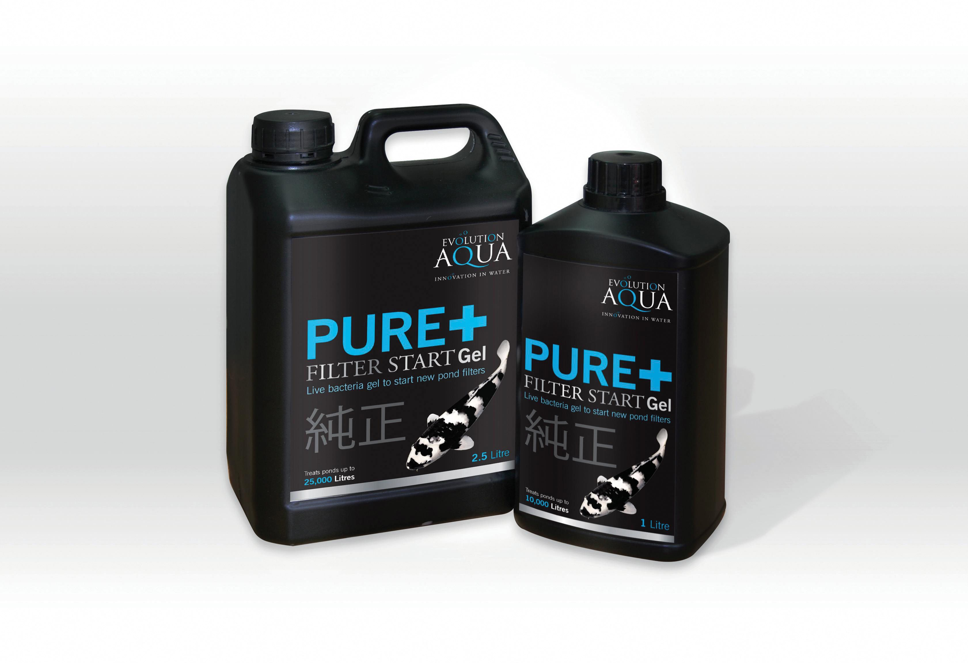 Unique Koi Evolution Aqua Pure+ Filter Start Gel Filterstarter mit Lebendbakterien 1000ml