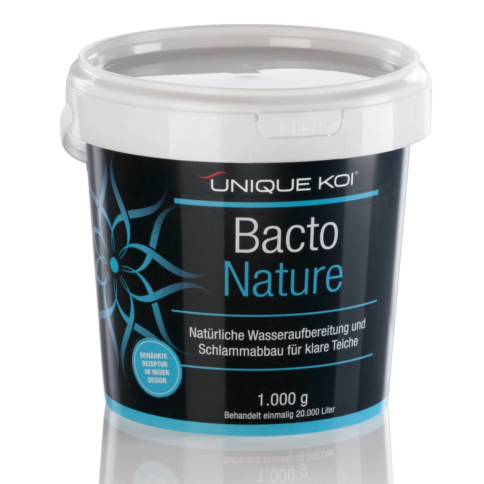 Unique Koi Bacto Nature Natürliche Wasseraufbereitung und Schlammabbau für klare Teiche 500g für 100