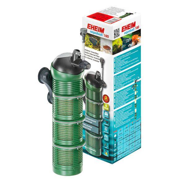 EHEIM aquaball 180 Innenfilter mit 3x Filterpatrone und Media-Box