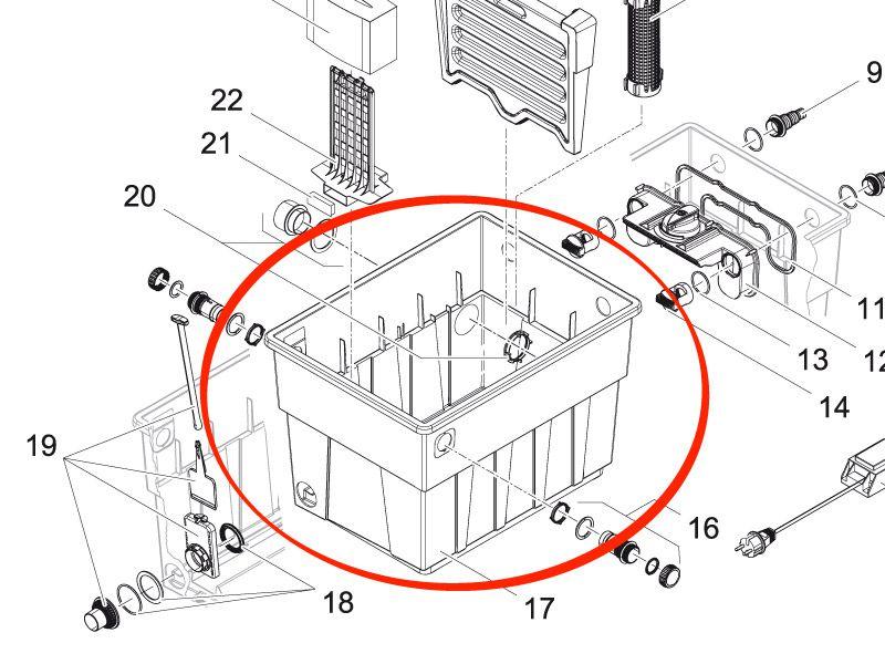 Behälter BioTec 12 gestanzt