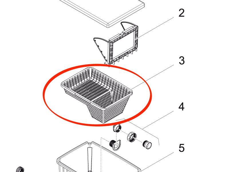 Schmutzkorb BioSys Skimmer 2 Zoll