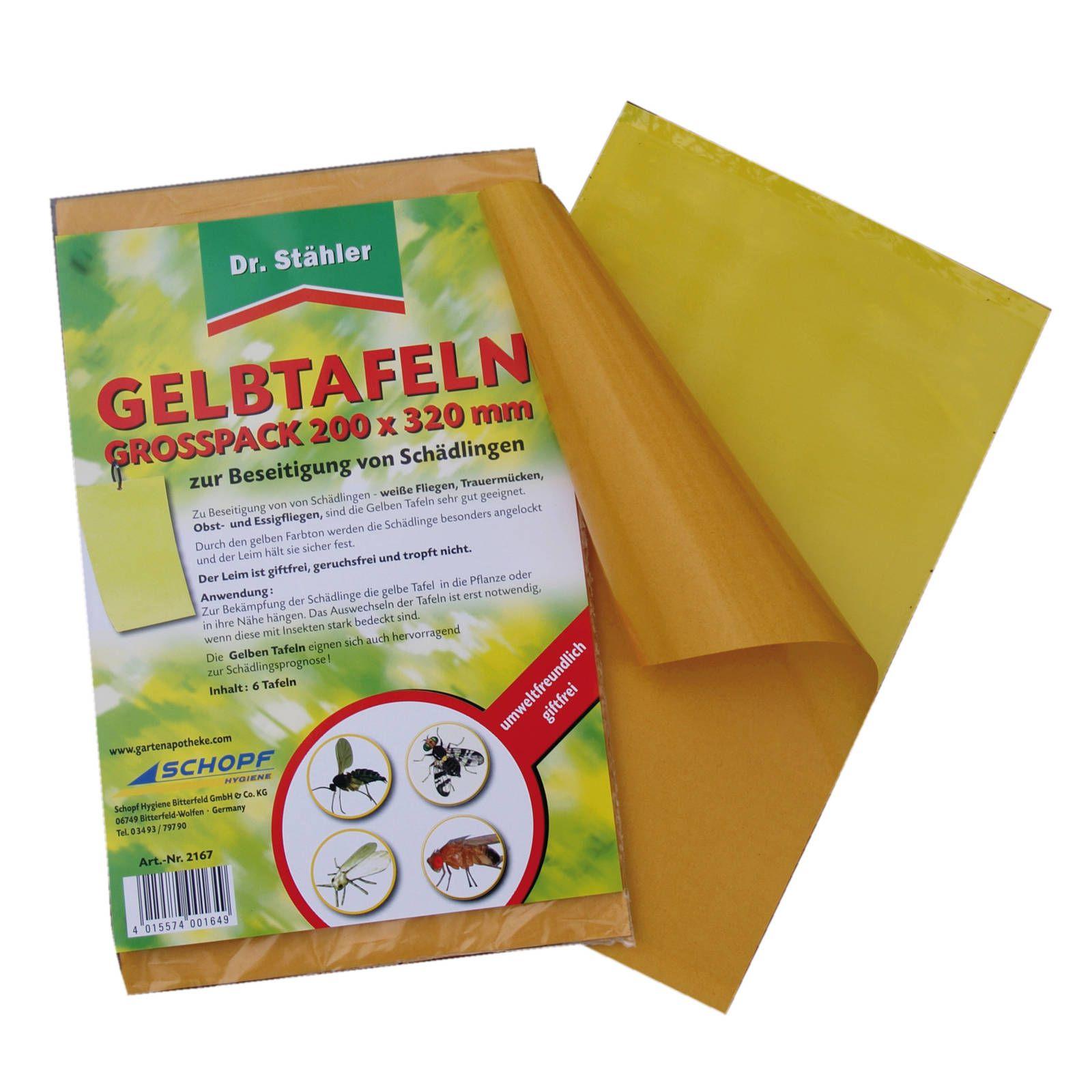 Dr. Stähler Gelbtafeln Groß 6 Stück 32 x 20 cm