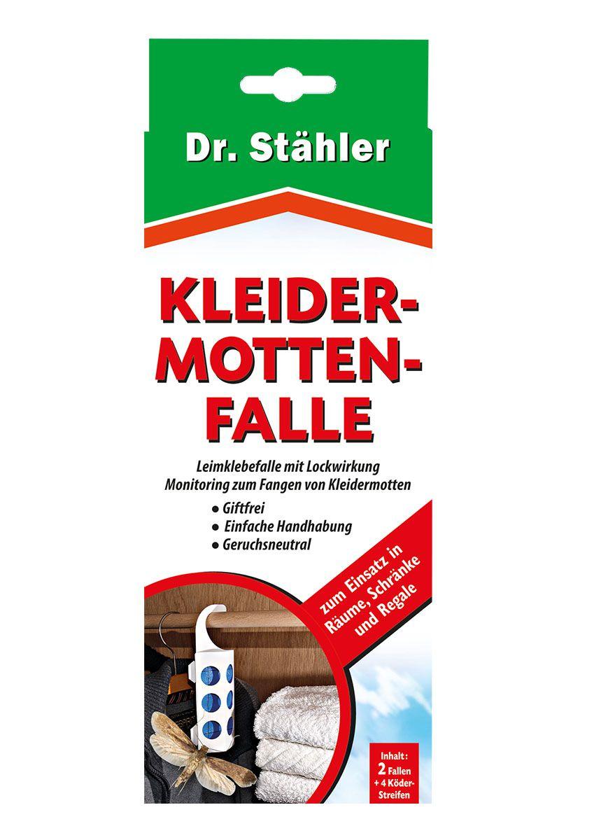 Dr. Stähler Kleidermottenfalle 2 Fallen + 4 Köderstreifen