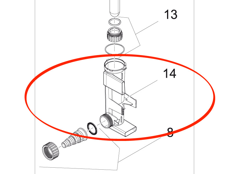 UVC-Wassergehäuse DLF OEM03