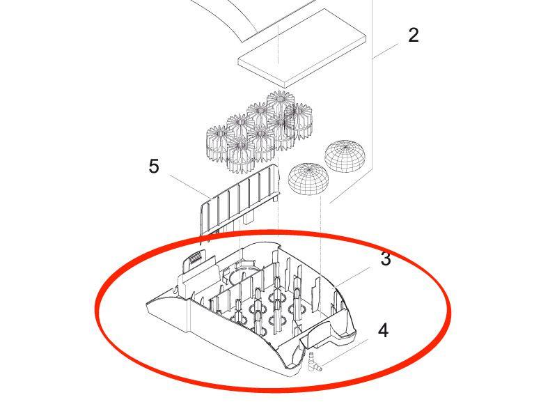 Filterunterteil Pumpe/UVC Filtral UVC 5000