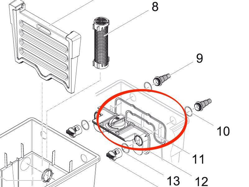Moosgummidichtung 6 x 6 / Verteiler BioTec 18 / 36